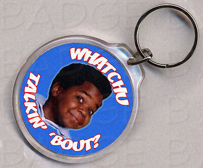 DIFF'RENT STROKES round keyring -  COLEMAN CLASSIC!