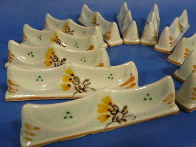 e225: Rare SET of 12 GOUDA KNIFE RESTS by PZH Plazuid