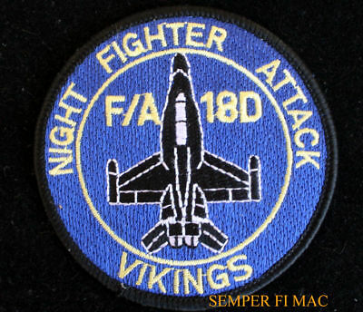 Vmfa (Aw)-225 Vikings Hat Patch Us Marine Corps Usmc Usmc Veteran Pin Up F18 Wow
