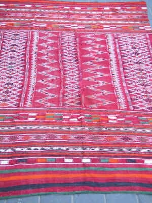 Original Antique Moroccan Wool Kilim Hand Made