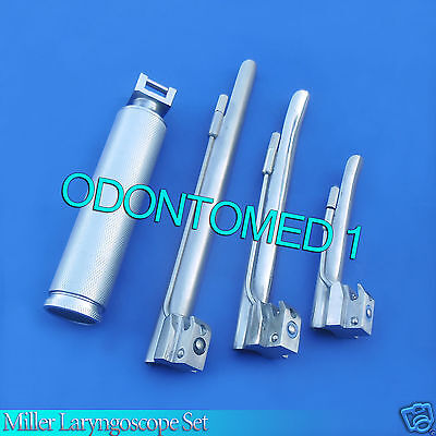 Miller Laryngoscope set Surgical Veterinary Instruments