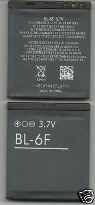Lot 2 New Battery For Nokia Bl6F N95 8Gb N96 N79