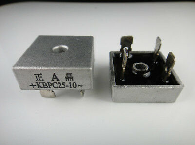 1x 25A 1000V Metal Case Bridge Rectifier SEP KBPC2510