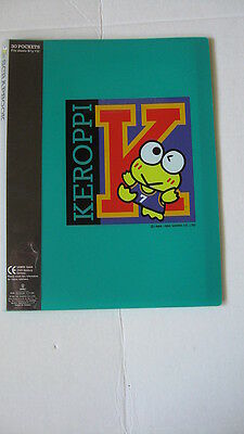 Sanrio Keroppi Clear File Book:  University KR Collectible Vintage 1988-1994 NEW