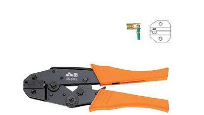 Flag Type Receptacles Ratchet Crimper Plier AWG 4.8mm²