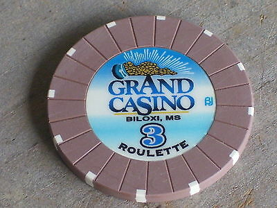ROULETTE CHIP FROM THE GRAND CASINO (B3) BILOXI MS
