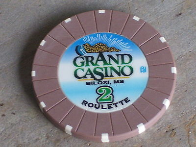 ROULETTE CHIP FROM THE GRAND CASINO(B2) BILOXI MS