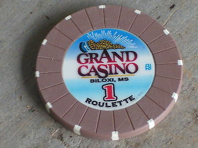 ROULETTE CHIP FROM THE GRAND CASINO(B1) BILOXI MS