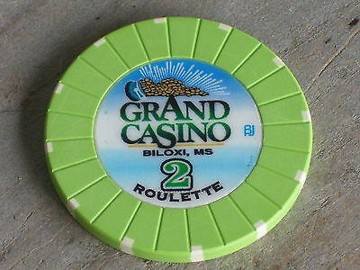 ROULETTE CHIP FROM THE GRAND CASINO(G2) BILOXI MS