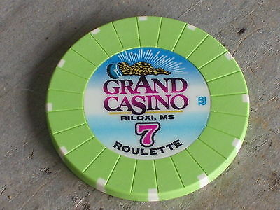 ROULETTE CHIP FROM THE GRAND CASINO(G7) BILOXI MS