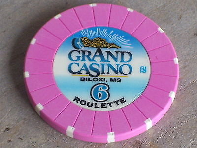 ROULETTE CHIP FROM THE GRAND CASINO(P6) BILOXI MS