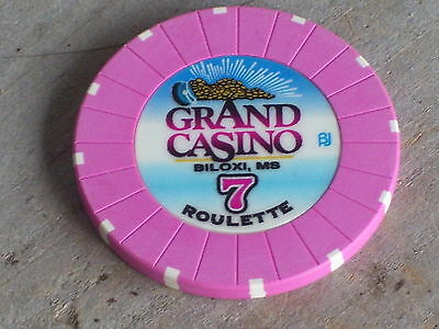 ROULETTE CHIP FROM THE GRAND CASINO(P7) BILOXI MS