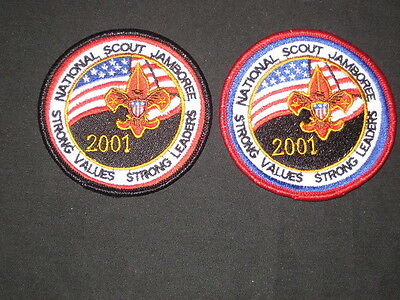 2001 National Jamboree 2 diff Pocket Patches        c19