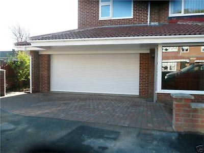 Remote Control, White Insulated Roller Shutter Garage Door with safety edge