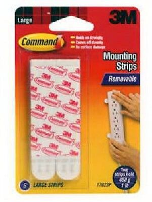 3M Command, 12 Count, Large Mounting Strips