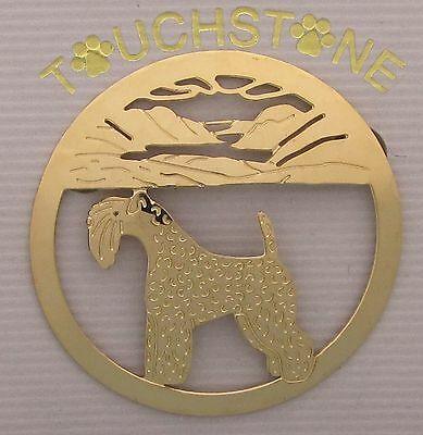 Kerry Blue Terrier Jewelry Large Gold Pin by Touchstone