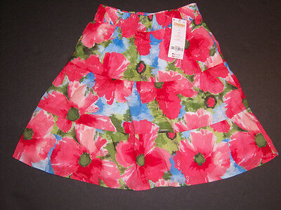 NWT Gymboree Burst of Spring Watercolor Floral Pieced Skirt 6