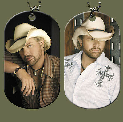 Toby Keith Dog Tag with Beaded Chain