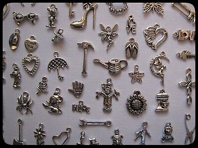 Bulk Pack Of 20 Mixed Tibetan Silver Charms ((Buy 2 Get 3Rd Free))