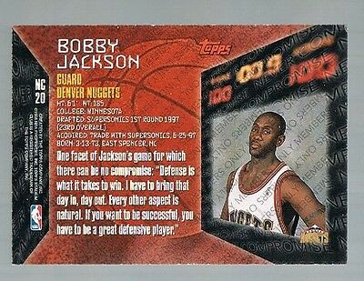 1997/98 Stadium Club Members Only never Compromise BOBBY JACKSON Nuggets RC NC20