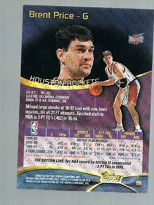1997/98 Topps Stadium Club Members Only Brent Price #80 Rockets