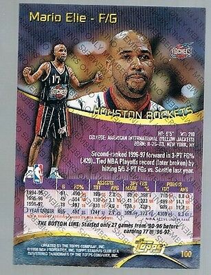 1997/98 Topps Stadium Club Members Only Mario Elie #100 Rockets