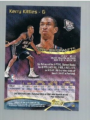 1997/98 Topps Stadium Club Members Only Kerry Kittles #54 Nets