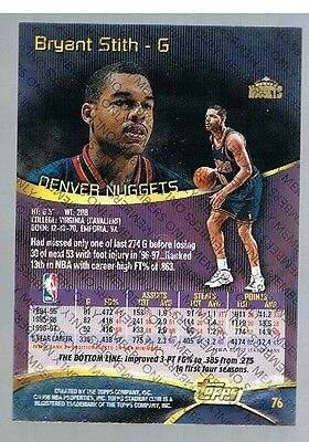1997/98 Topps Stadium Club Members Only Bryant Stith #76 Nuggets