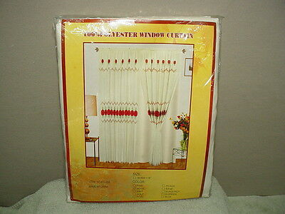 "BEIGE WINDOW CURTAIN SET, 100% POLYESTER, 60"" X 84"" WITH 18"" MATCHING VALANCE"