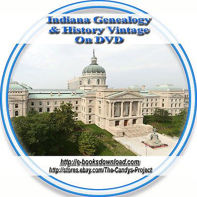 "39 Indiana Civil War & 35 Indiana History Genealogy  Rare ""Out of Print"" DVD"