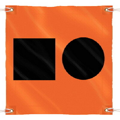 36 Inch x 36 Inch Orange Colored Distress Signal S.O.S Flag for Boats