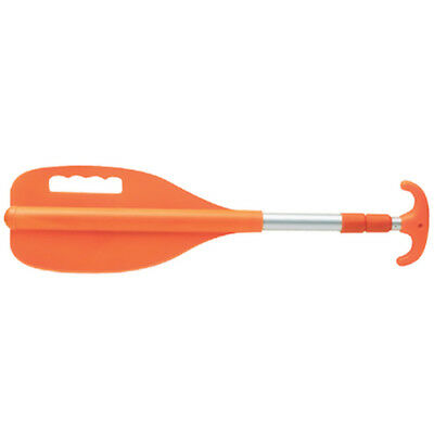 26 Inch to 72 Inch Telescoping Orange Colored Aluminum Paddle for Boats