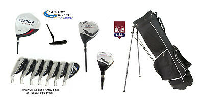 AGXGOLF MENS LEFT HAND COMPLETE GOLF CLUB SET wBAG+DRIVER+3-9 IRONS+PW+PUTTER