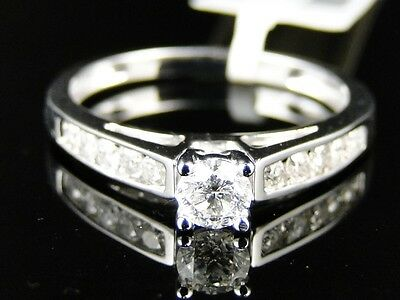 1/2 Ct 14K White Gold Bridal Solitaire Engagement Wedding Band Diamond Ring
