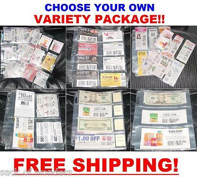 ( 200 ) COUPON sleeves pages binder holder MIX & MATCH ANY SIZE - **NEW**