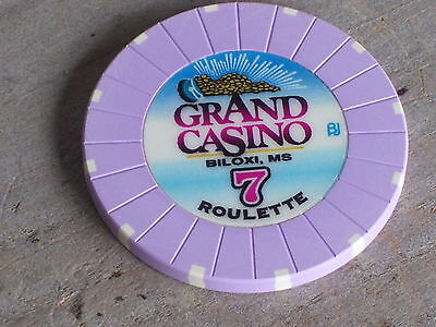 ROULETTE CHIP (7)  FROM THE GRAND CASINO BILOXI MS