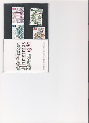 1980 Royal Mail Presentation Pack Christmas Mint Decimal Stamps