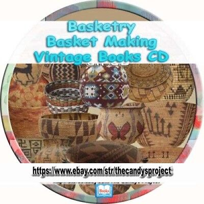 Basketry Basket Making Learn Weaving Rare Vintage Collection Books  Cd