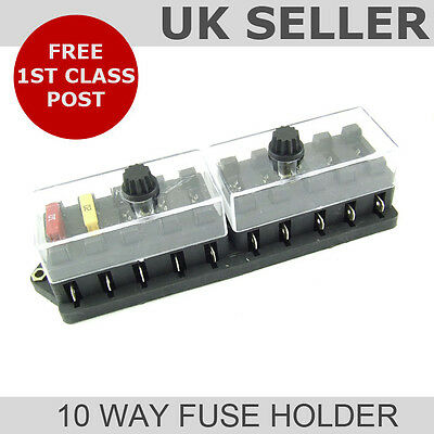 Blade Fuse Box (10 Way Universal Fuse Holder)
