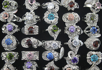 Mixed Lots 30pcs Crystal rhinestone&CZ Top Quality ring