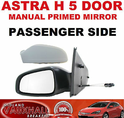 Vauxhall Astra H Manual Primed 5 Door Wing Mirror Passenger Near Side Club Cdti