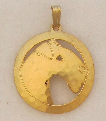Lakeland Terrier Jewelry Gold Pendant by Touchstone