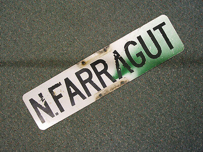 Vintage N.FARRAGUT STREET SIGN ~ Bay City, Michigan