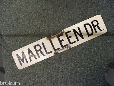 Vintage  MARLLEEN DR.  Street Sign ~ Bay City, Michigan