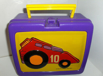 Racer 10`Plastic Lunchbox-1988`By The One's Company In Hong Kong`Rare`Free To US