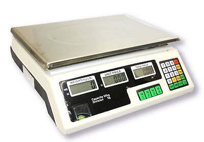 66Lb 30Kg Digital Price Deli Food Meat Computing Counter Scale Dual Side Display