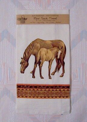 Horse Flour Sack Towel Mare And FoalPattern Kay Dee