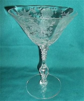 Vintage ELEGANT Cambridge Glass - WILDFLOWER Pattern c. 1930 Stem (a)