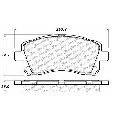 Disc Brake Pad-Posi-Quiet Extended Wear w/Shims & HrdWr Front fits 97-02 Legacy