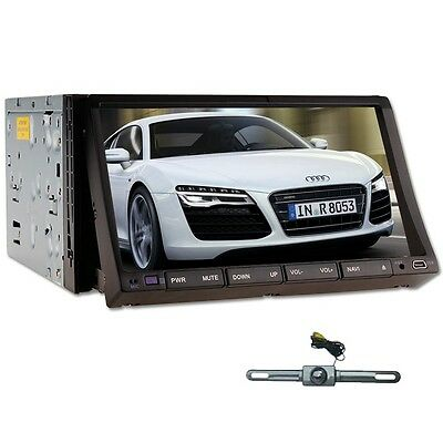 "VERSIO Double Din 7"" Car Stereo DVD Player TV Ipod Radio Bluetooth+REAR CAMERA"